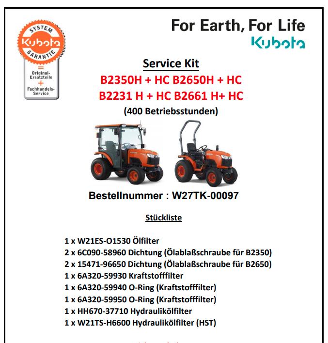 servicekitb226H