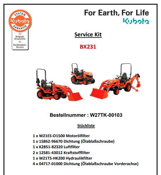 servicekitBX231